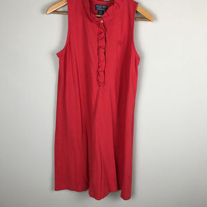 Red Polo knit slvls dress Sz M
